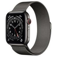 APPLE WATCH 6 44MM GRAPHITE STAINLESS STEEL CASE WITH GRAPHITE MILANESE LOOP