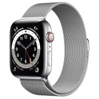APPLE WATCH 6 44MM SILVER STAINLESS STEEL CASE WITH MILANESE LOOP