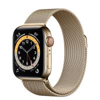 APPLE WATCH S6 40MM GOLD STAINLESS STEEL CASE WITH GOLD MILANESE LOOP