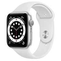 APPLE WATCH S6 GPS 44MM SILVER / WHITE SPORT BAND