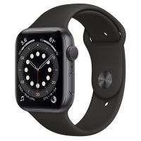 APPLE WATCH S6 GPS 44MM SPACE GRAY/ BLACK SPORT BAND