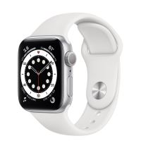 APPLE WATCH S6 LTE 40MM SILVER/ WHITE SPORT BAND