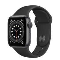 APPLE WATCH S6 LTE 40MM SPACE GRAY / BLACK SPORT BAND