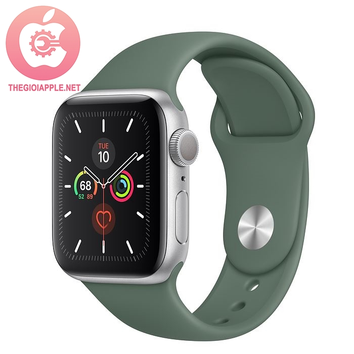APPLE WATCH SERIES 5 GPS 40MM SILVER/ PIN GREEN