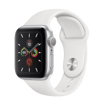 APPLE WATCH SERIES 5 LTE 40MM SILVER/ WHITE SPORT BAND
