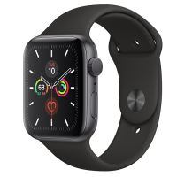 APPLE WATCH SERIES 5 LTE 44MM GRAY/ BLACK SPORT BAND